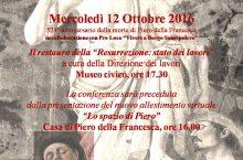 Sansepolcro, 'Ipotesi su Piero', appuntamento mercoledì 12 Ottobre 2016